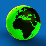 Europe Africa Globe Shows World Countries And Globally. Europe Africa Globe Meaning Global Country And Nation royalty free illustration