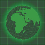 Europe and Africa green Stock Photography