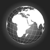 Europe and africa map in black and white Stock Photography