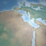 Europe and Africa map. Satellite view of Africa and Europe Royalty Free Stock Photography