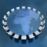 Europe Africa meeting Stock Photos