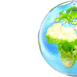 Europe and Africa on model of Earth Royalty Free Stock Photography