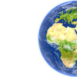 Europe and Africa on planet Earth Stock Image