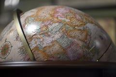 Vintage globe. Europe and Africa on world stock photos