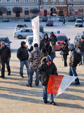 Europe against ACTA, Lublin, Poland Royalty Free Stock Photos