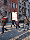 Europe against ACTA, Lublin, Poland Royalty Free Stock Photo