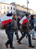 Europe against ACTA, Lublin, Poland. Poles march against the Polish government ratifying the ACTA (Anti-Counterfeiting Trade Agreement), Lublin, Poland, 11th Feb Royalty Free Stock Photography