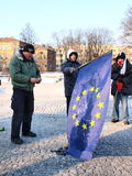 Europe against ACTA, Lublin, Poland. Poles march against the Polish government ratifying the ACTA (Anti-Counterfeiting Trade Agreement), Lublin, Poland, 11th Feb Stock Photography