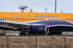 Europe Airpost voyagent en jet le détail photos libres de droits