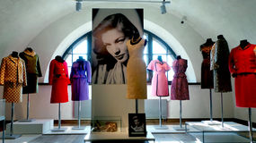 Europe. America. Fashion 60-ies of the 20th century. Exhibition Of Alexander Vasiliev Royalty Free Stock Photo