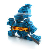 Europe analysis Stock Photography