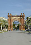 Europe - Arc de Triomf in Barcelona, Spain Stock Photo