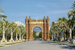 Europe - Arc de Triomf in Barcelona, Spain Royalty Free Stock Image