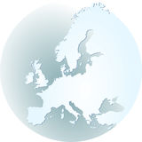 Europe atlas. Map europe, european royalty free illustration