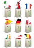 Europe bags Royalty Free Stock Image