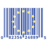 Europe bar code Royalty Free Stock Image