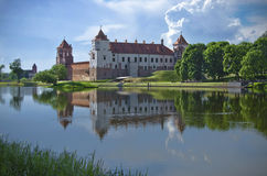 Europe, Belarus, history: Mir Castle Complex. Royalty Free Stock Photos