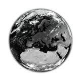 Europe on black Earth Stock Image