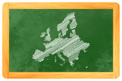 Europe on a blackboard Royalty Free Stock Photo