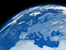Europe on blue Earth Stock Photography