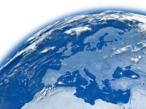 Europe on blue Earth Stock Images