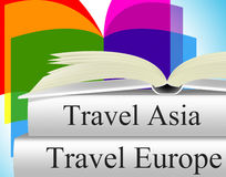 Europe Books Means Travel Guide And Asia Royalty Free Stock Photo