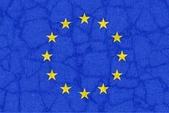 Europe is breaking, symbolic Royalty Free Stock Image