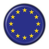 Europe button flag round shape Royalty Free Stock Photography