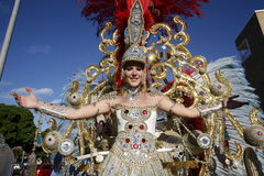 EUROPE CANARY ISLANDS LAS PALMAS CARNEVAL Royalty Free Stock Image