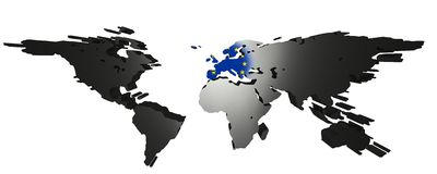 Europe Centered World Stock Images