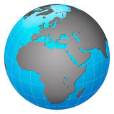 Europe centric planet earth Royalty Free Stock Image