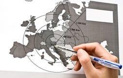 europe centrum mapa Vienna Zdjęcie Stock