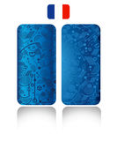 Europe championship 2016. Europe championship abstract background for phone cases. Euro 2016 France football championship pattern with France flag. Vector Royalty Free Stock Photo