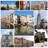 Europe cities collage. Europe old cities photographs collage Royalty Free Stock Photos