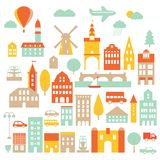 Europe city icon Royalty Free Stock Photography