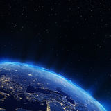 Europe city lights. Elements of this image furnished by NASA stock illustration