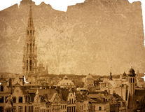 Europe cityscape - landmark of Brussels Royalty Free Stock Photo