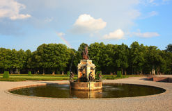 Europe classic fountain Royalty Free Stock Photos