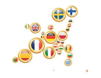 Europe in Coins Stock Image