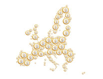 Europe in Coins Royalty Free Stock Photography