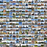 Europe collage. Made of 225 european pictures Stock Photos