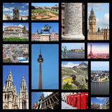 Europe collage. Europe landmarks photo collage with London, Paris, Rome Stock Photography