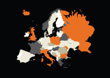 Europe (coloured) Royalty Free Stock Photography