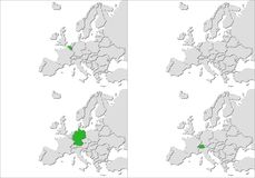Europe countries Stock Photography