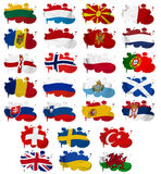 Europe countries flag blots Part 2 Royalty Free Stock Photos