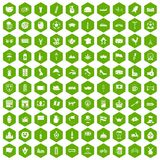 100 europe countries icons hexagon green. 100 europe countries icons set in green hexagon isolated vector illustration Stock Photo