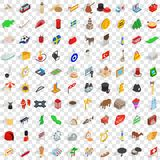 100 europe countries icons set, isometric 3d style. 100 europe countries icons set in isometric 3d style for any design vector illustration Stock Photo