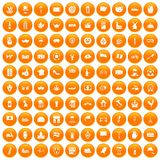 100 europe countries icons set orange. 100 europe countries icons set in orange circle isolated on white vector illustration vector illustration