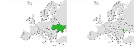 Europe countries Stock Photo