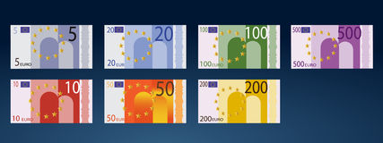 Europe Currency. Collection of Europe Currency by urban art Royalty Free Stock Images